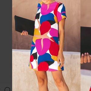 Multicolor mini dress